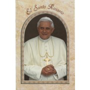 "Pope Benedict/ The Holy Rosary Book Spanish Text cm.9.5x15.5 - 3 3/4""x 6"""