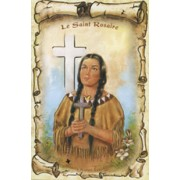"Kateri Tekakwitha/ The Holy Rosary Book French Text cm.9.5x15.5 - 3 3/4""x6"""