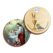 Communion Girl 3D Bi-Dimensional Round Bookmark cm.7 - 2 3/4""