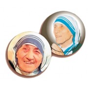 Mother Theresa 3D Bi-Dimensional Round Bookmark cm.7 - 2 3/4""