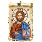 "Pantocrator Scroll Plaque cm.10x15 - 4""x6"""