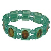 Plastic Multi-Saints Bracelet Light Blue