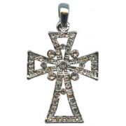 "Swarovski Crystal Cross cm.4.3 - 1 3/4"" Boxed with Necklace and Swarovski Tag"