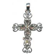 """Swarovski Crystal Cross cm.5 - 2"""" Boxed with Neckace and Swarovski Tag"""