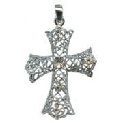 "Swarovski Crystal Cross cm.6 - 2 3/8"" Boxed with Necklace and Swarovski Tag"
