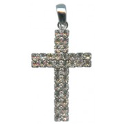 "Swarovski Crystal Cross cm.4.3 - 1 3/4"" Boxed with Necklace and Swarovski Tag"