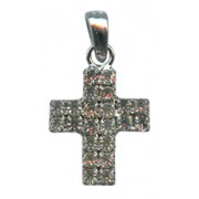 "Swarovski Crystal Cross cm.2.5 - 1"" Boxed with Necklace and Swarovski Tag"