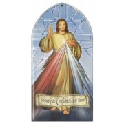 "Divine Mercy Plaque French cm.10x20 - 4""x8"""