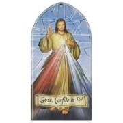 "Divine Mercy Plaque Italian cm.10x20 - 4""x8"""