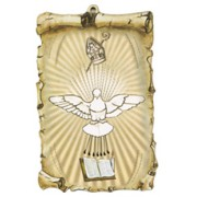 "Holy Spirit Scroll Plaque cm.10x15 - 4""x6"""