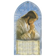 "Jesus Praying/ Our Father Prayer Plaque Italian cm.10x20 - 4""x8"""