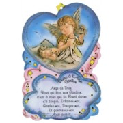 "Prayer to Guardian Angel Plaque cm.10x15 - 4"" x 6"" French Text"
