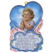 "Our Father Prayer Plaque cm.10x15 - 4"" x 6"" French Text"