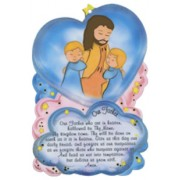 "Our Father Prayer Plaque cm.10x15 - 4"" x 6"" English Text"