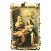 "St.Anne Scroll Plaque cm.10x15 - 4""x6"""