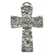 "Communion Pewter Cross cm.16 - 6 1/4"""