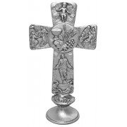 Communion Pewter with Base Cross cm.16 - 6 1/4""