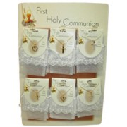 First Communion Necklaces and Pouch Display of 18