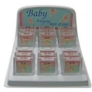 Baby Lapel Pins Gold Plated 18piece Display